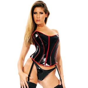 ledapol 1650 corsets en vinyle - corsets en verni fetish