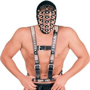 ledapol 5014 sm harnais de poitrine en cuir homme - gay harness