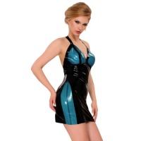 anita berg 2103 mini robe en latex - robe courtes en latex fetish