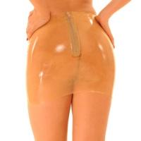 anita berg AB4074Z mini jupe en latex - jupe court avec fermeture éclair