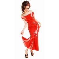 anita berg AB4217 robe de cocktail fetish - longue robe en latex