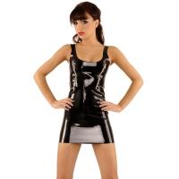 anita berg AB4752 mini robe en latex - robe courtes en latex fetish