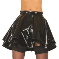 ledapol 1045 mini jupe en vinyle - jupe courte en verni fetish