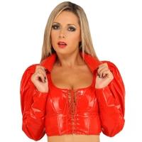 ledapol 1051 veste en vinyle - veste en verni fetish