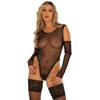 ledapol 1097 body en résille - bodysuit femme - lingerie sexy