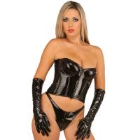 ledapol 1245 corsets en vinyle - corsets en verni fetish