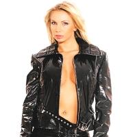 ledapol 1272 veste en vinyle - veste en verni fetish