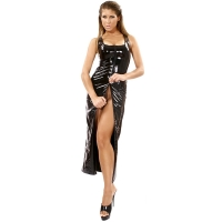 ledapol 1351 robes en vinyle - robes longues en verni fetish