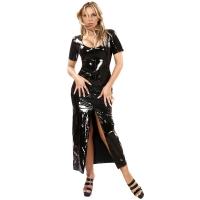 ledapol 1365 robes en vinyle - robes longues en verni fetish