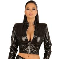 ledapol 1427 veste en vinyle - veste en verni fetish
