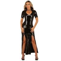 ledapol 1446 robe en vinyle - robe longues en verni fetish