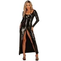 ledapol 1449 robe en vinyle - robe longues en verni fetish
