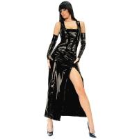 ledapol 1455 robe en vinyle - robe longues en verni fetish