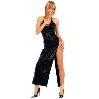 ledapol 1473 robe en vinyle - robe longues en verni fetish