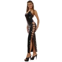 ledapol 1530 robe en vinyle - robe longues en verni fetish