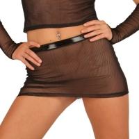 ledapol 1584 mini jupe en résille - jupe de femme sexy