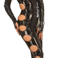 ledapol 1621 catsuit en vinyle - combinaisons en verni fetish