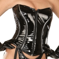 ledapol 1629 corsets en vinyle - corsets en verni fetish