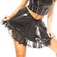ledapol 1639 mini jupe en vinyle - jupe courte en verni fetish