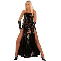 ledapol 1731 robe en vinyle - robe longues en verni fetish