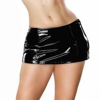 ledapol 1735 mini jupe en vinyle - jupe courte en verni fetish