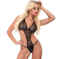 ledapol 1857 body en résille - bodysuit femme - lingerie sexy