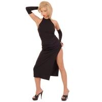 ledapol 3001 robe en stretch - robe longues en tissu fetish