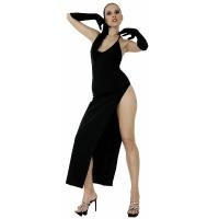 ledapol 3005 robe en stretch - robe longues en tissu fetish