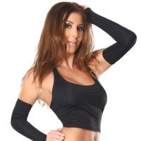 ledapol 3015 bustier en tissu stretch - blouse de femme sexy