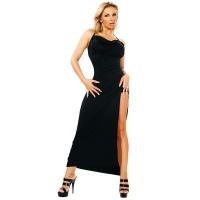 ledapol 3026 robe en stretch - robe longues en tissu fetish