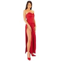 ledapol 3067 robe longues - robe en satin - robe corset fetish