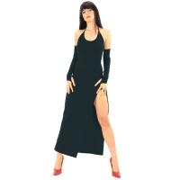 ledapol 3068 robe en stretch - robe longues en tissu fetish