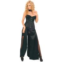 ledapol 3069 robe longues - robe en satin - robe corset fetish
