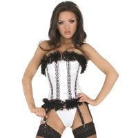 ledapol 3126 corset de poitrine complet en satin - corset de femme sexy