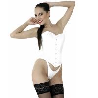 ledapol 3141 corset de poitrine complet en satin - corset de femme sexy