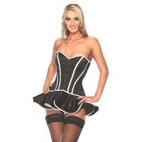 ledapol 3174 robe corset en satin - corset de femme sexy