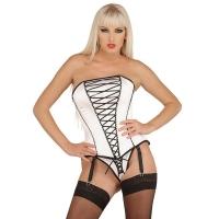 ledapol 3179 corset de poitrine complet en satin - corset de femme sexy