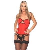 ledapol 3189 corset de poitrine complet en satin - corset de femme sexy