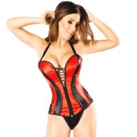 ledapol 3220 corset de poitrine complet en satin - corset de femme sexy