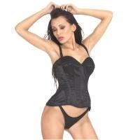 ledapol 3224 corset de poitrine complet en satin - corset de femme sexy