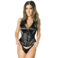 ledapol 3226 corset de poitrine complet en satin - corset de femme sexy