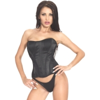 ledapol 3227 corset de poitrine complet en satin - corset de femme sexy