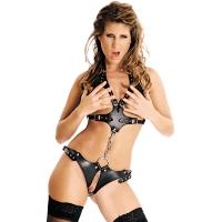 ledapol 473 body harnais en cuir femme