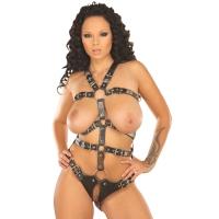 ledapol 5070 body harnais en cuir femme