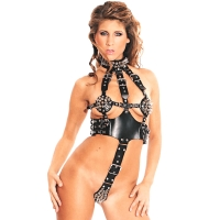 ledapol 5164 body harnais en cuir femme
