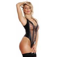 ledapol 5242 body en cuir - bodysuit femme
