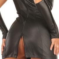 ledapol 5253 mini robe en cuir - robe courte