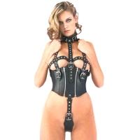 ledapol 5280 body harnais en cuir femme
