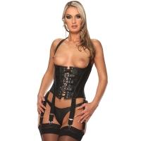 ledapol 5521 corset en cuir avec ouverture sur les seins