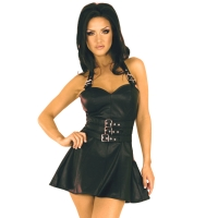 ledapol 5576 mini robe en cuir - robe courte